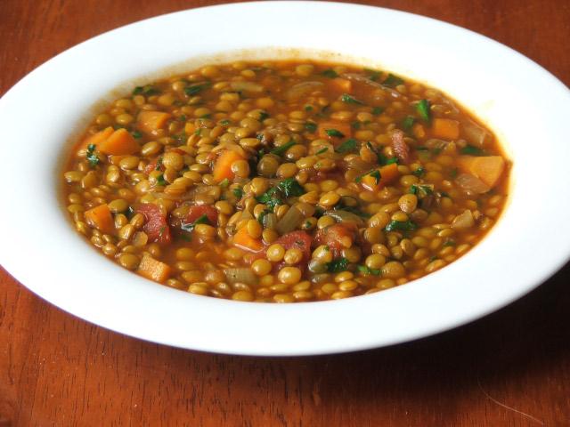 Red Lentil Soup (with Brown Lentils)