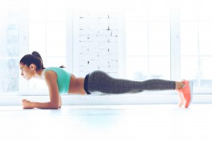 Woman doing a plank, EXERCISE