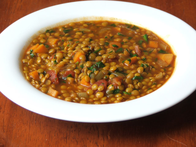 Red Lentil Soup (with Brown Lentils)